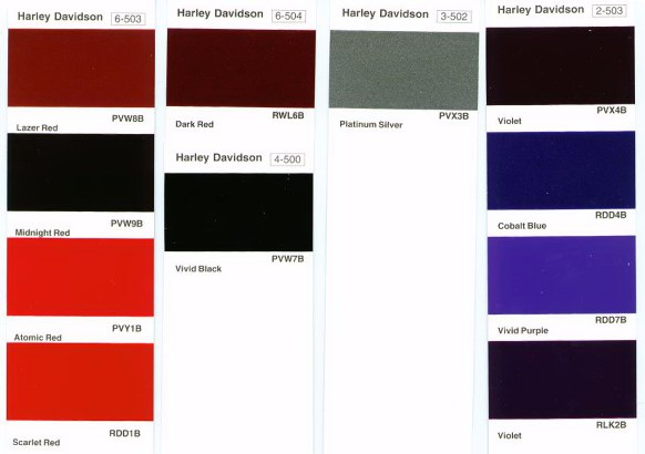 Harley Davidson Black Cherry Touch Up Paint