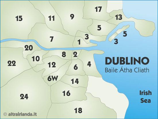 Le zone di Dublino